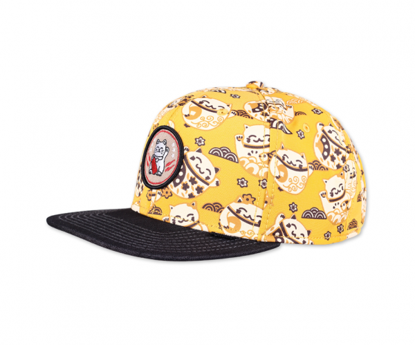 6 Panel Snapback Cap LuckyCat Linen