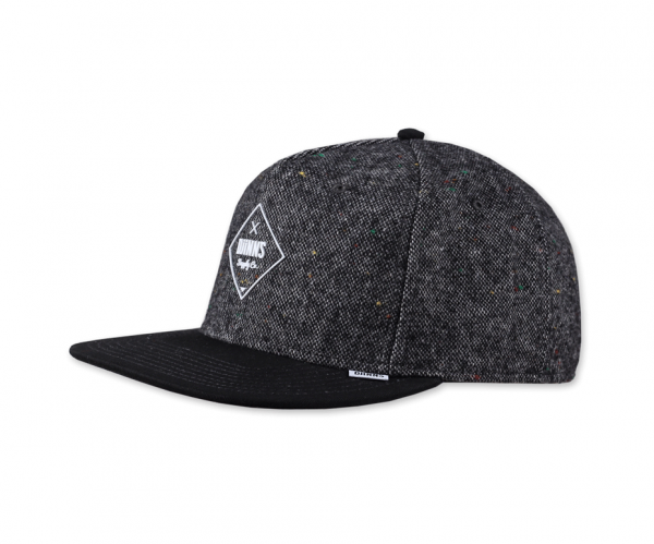 5 Panel Snapback Cap Felt Rubber