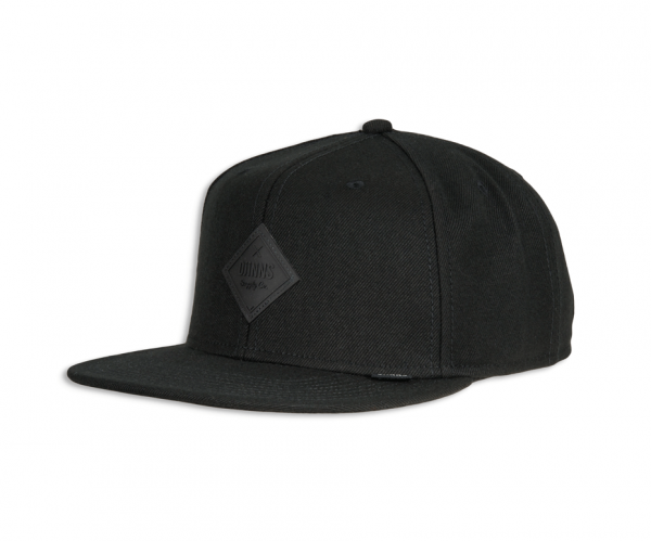 6 PANEL SNAPBACK CAP MONOCHROME
