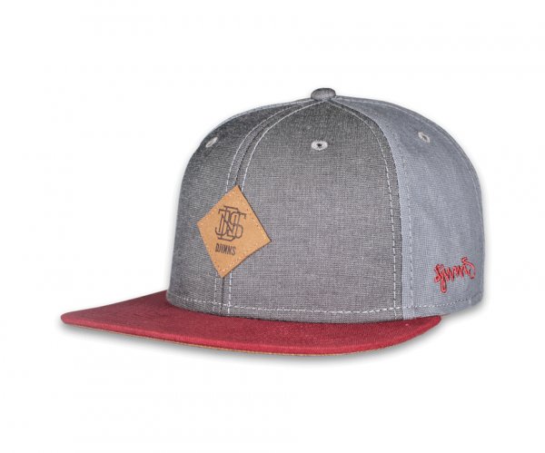6 Panel Snapback Cap Mix Canvas
