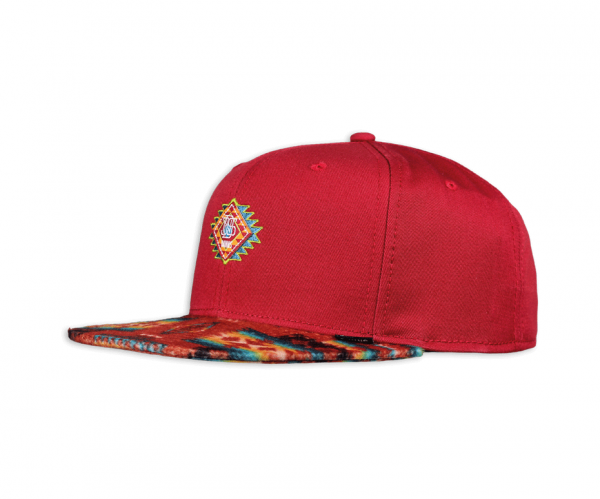 6 Panel Snapback Cap Aztek Crown